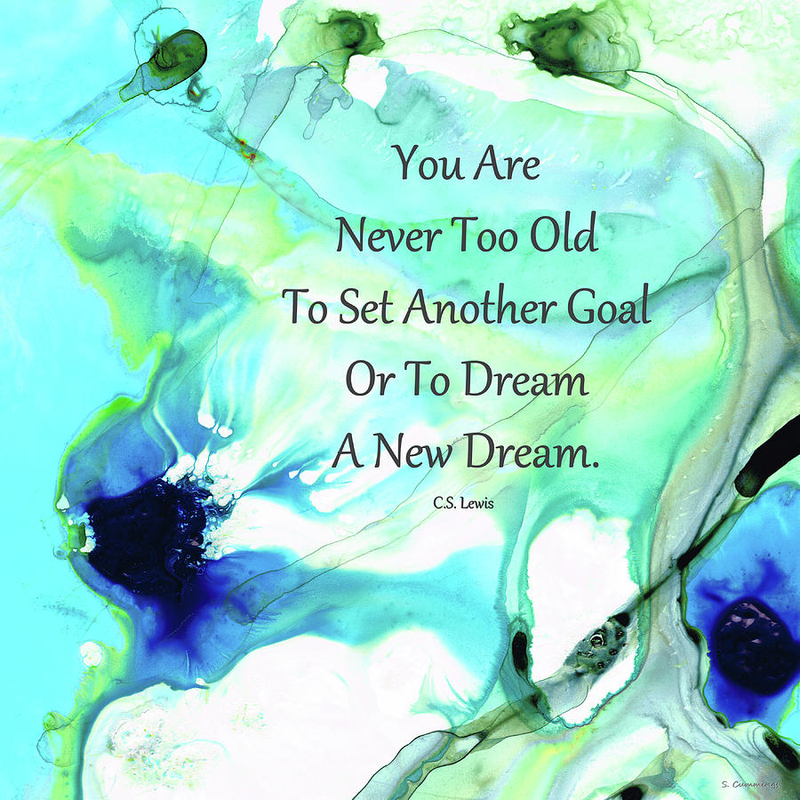 Inspirational Painting - Dream A New Dream - Motivational Art - Sharon Cummings by Sharon Cummings