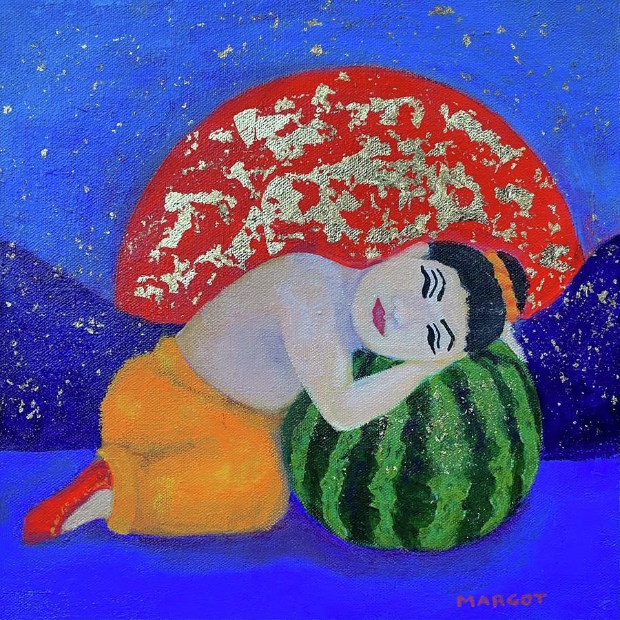 Buddha Painting - Dreaming Buddha by Margot Sappern