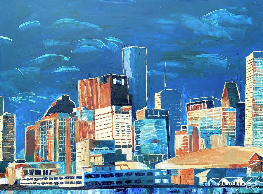 Dreams of Houston Painting by Lauren Luna