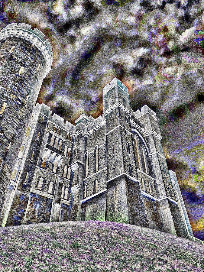 Dreamy Castle Night #18 Mixed Media
