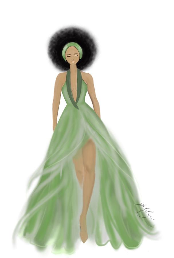 Dressed In Green Mixed Media