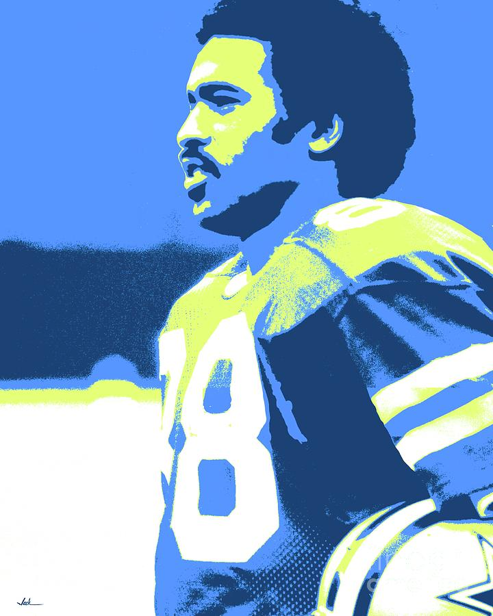 Drew Pearson Painting - Drew Pearson by Jack Bunds