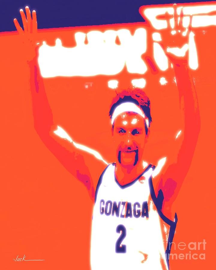 Gonzaga Painting - Drew Timme by Jack Bunds