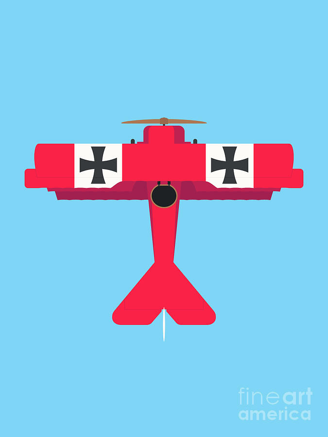 Aircraft Digital Art - Dr.I WWI German Triplane Aircraft - Red by Organic Synthesis