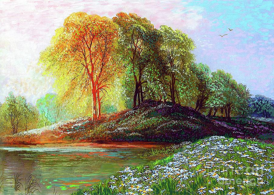 Landscape Painting - Midsummer Daisies by Jane Small