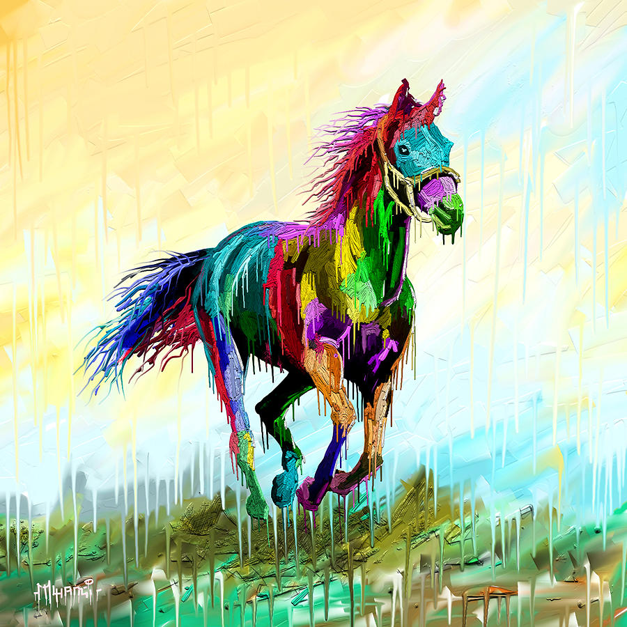 Drippy Gallop Painting