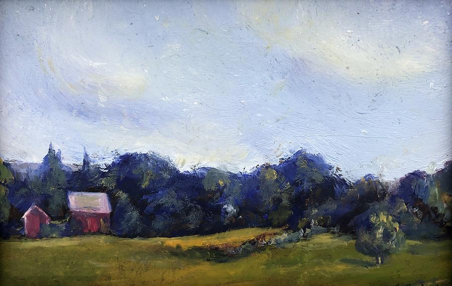 Country Life Painting - Driving by Farms by Rachel Barlow