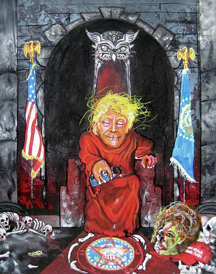 Donald Trump Painting - Drumpf Ftbonr by Jacob Wayne Bryner