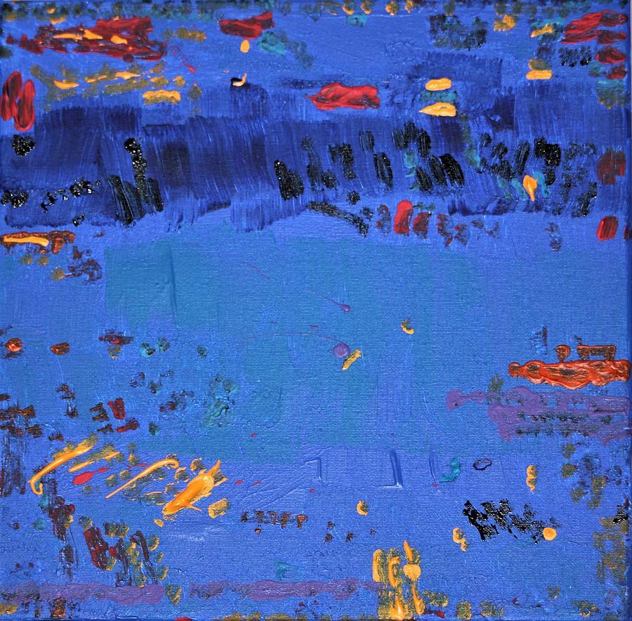 Blue Painting - Dry Heat by Pam Roth OMara
