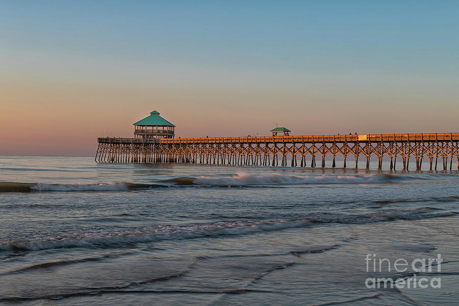 Charleston - Folly Beach Pier - Morning Glow Photograph