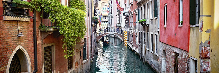 Dsc8876 - Red wall on the canal, Venice by Marco Missiaja