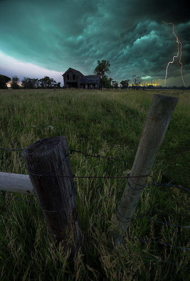 Thunderstorm Photograph - Duality by Aaron J Groen