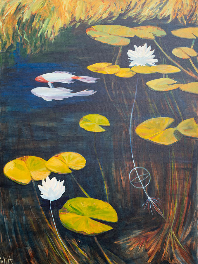 Fish Painting - Duality Fish by Azhir Fine Art