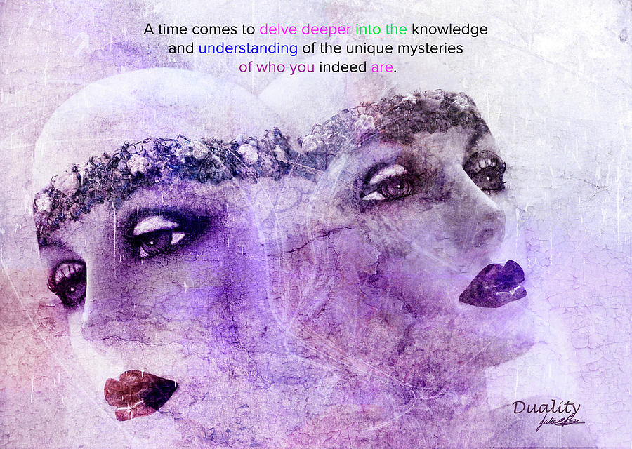 Beauty Digital Art - Duality by Julie m Rae