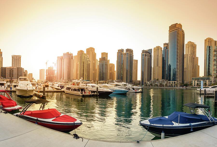 Dubai Marina Pier Photograph