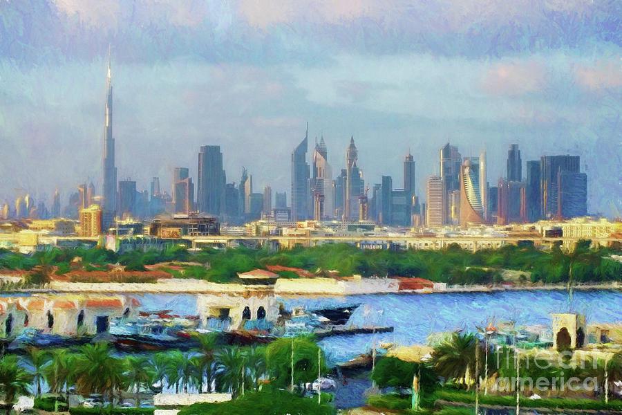 Dubai UAE Skyline by Scott Cameron