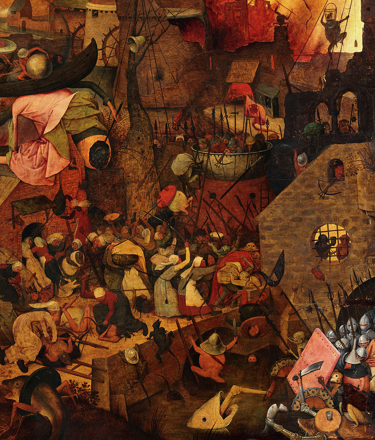 Dull Gret, Mad Meg, Detail No.2 Painting by Pieter Bruegel the Elder