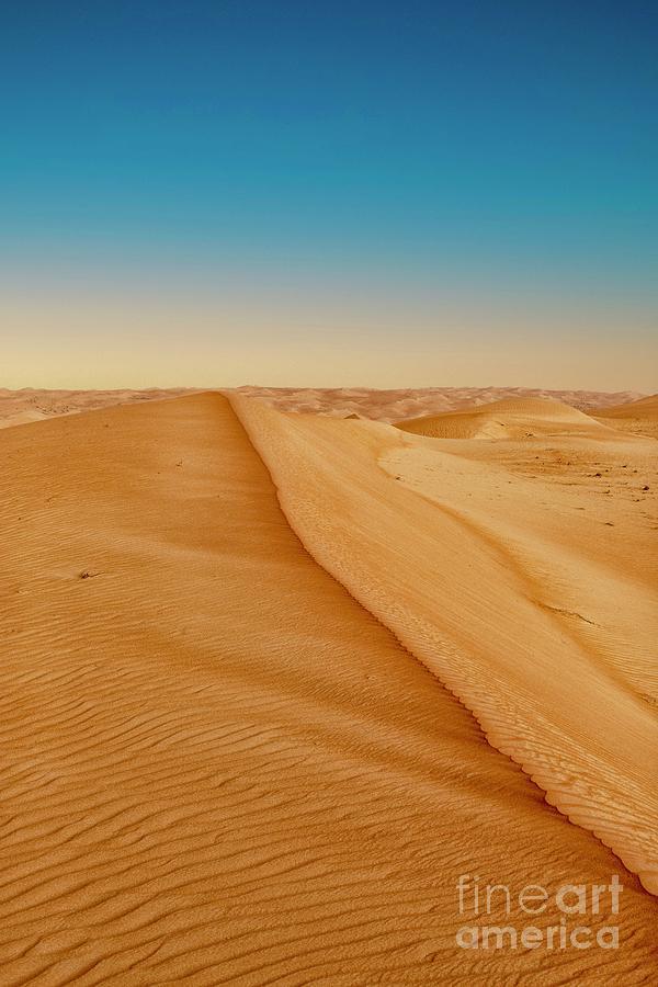 Dune Ridge In The Desert Of Oman Photograph