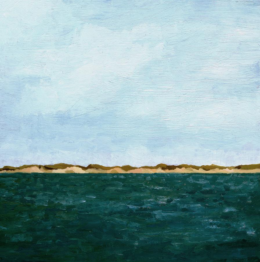 Lake Painting - Dunes of Lake Michigan with Big Sky by Michelle Calkins