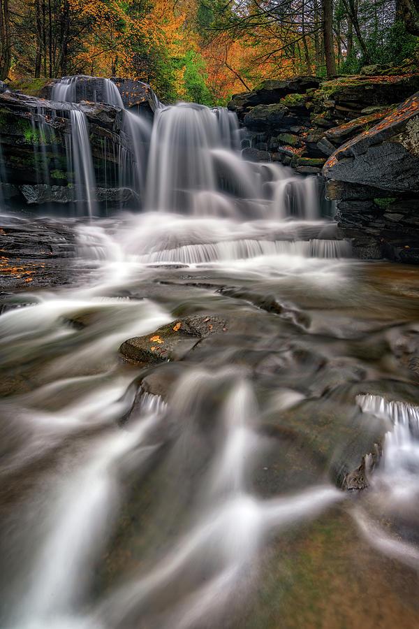 Dunloup Creek Falls by Rick Berk