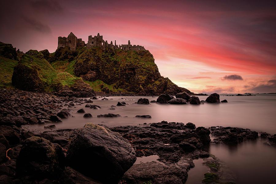 Dunluce Castle Sunset Photograph