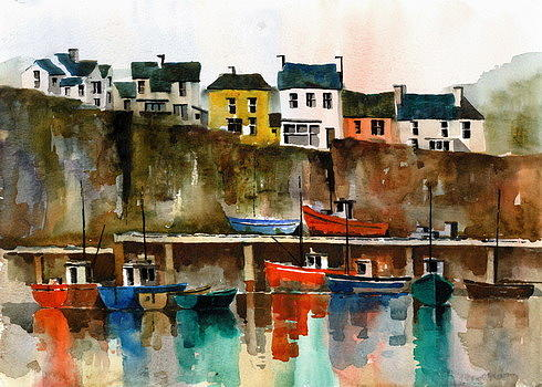 Dunmore East Harbour, Co. Waterford by Val Byrne