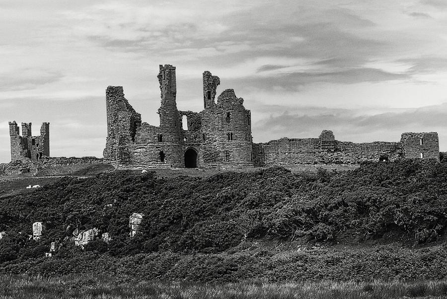 Dunstanburgh Castle Monochrome Photograph