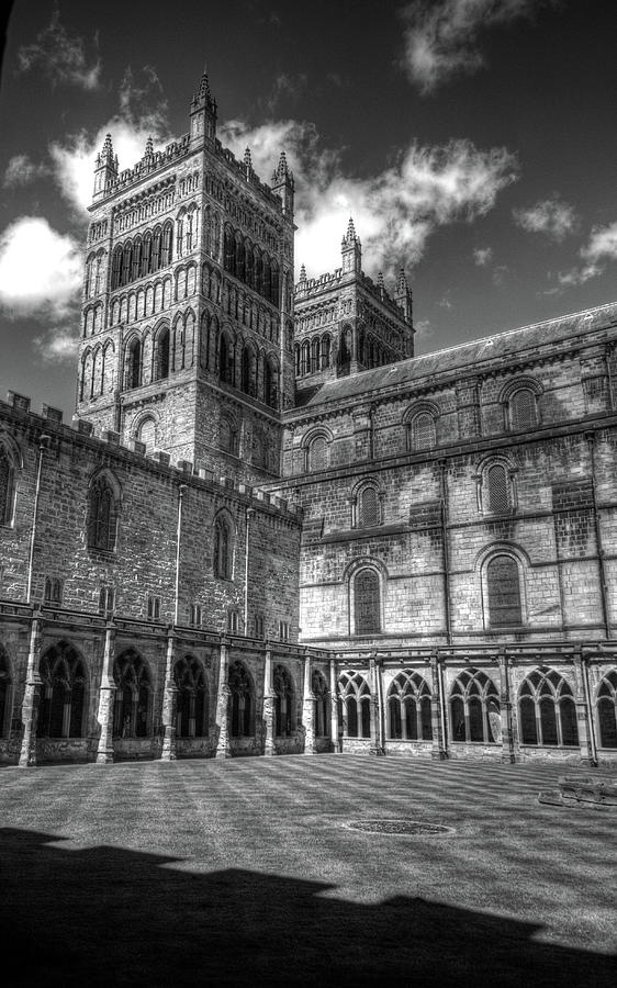 Durham Cathedral Black And White Photograph