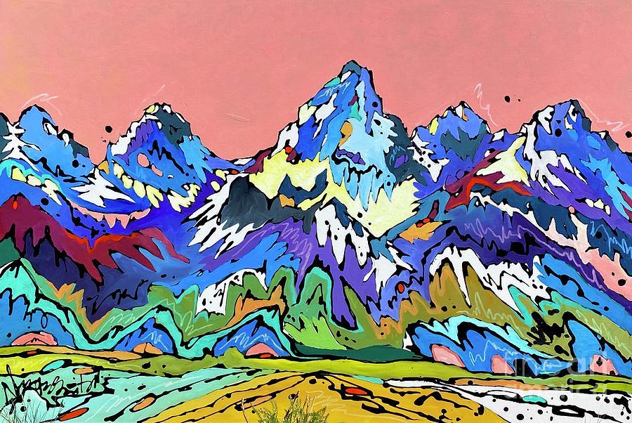 Grand Tetons Painting - Dusk by Nicole Gaitan