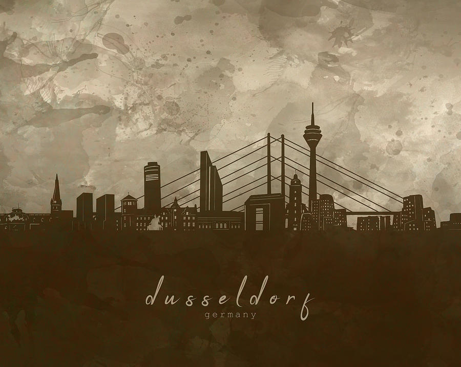 Dusseldorf Skyline Panorama 4 Digital Art