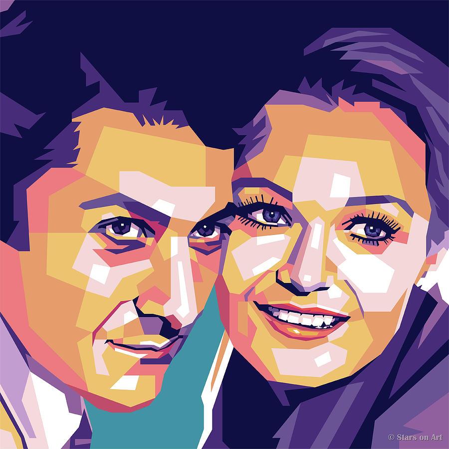 Dustin Hoffman And Valerie Perrine Painting
