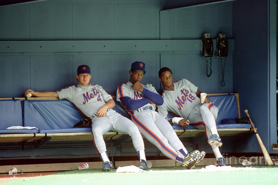 Dwight Gooden, Darryl Strawberry, and Lenny Dykstra Photograph by George Gojkovich
