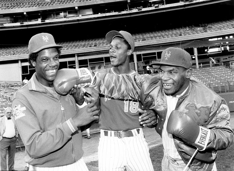 Dwight Gooden, Darryl Strawberry, and Mike Tyson Photograph by New York Daily News Archive