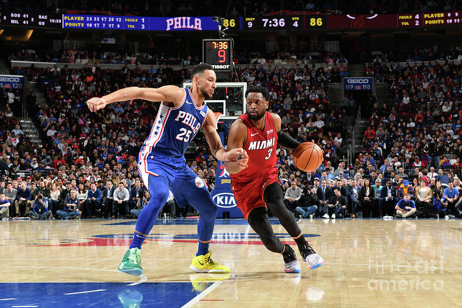 Dwyane Wade and Ben Simmons Photograph by Jesse D. Garrabrant