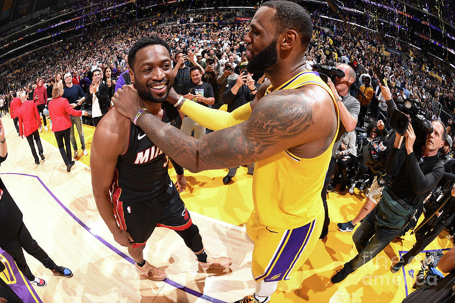 Dwyane Wade and Lebron James Photograph by Andrew D. Bernstein