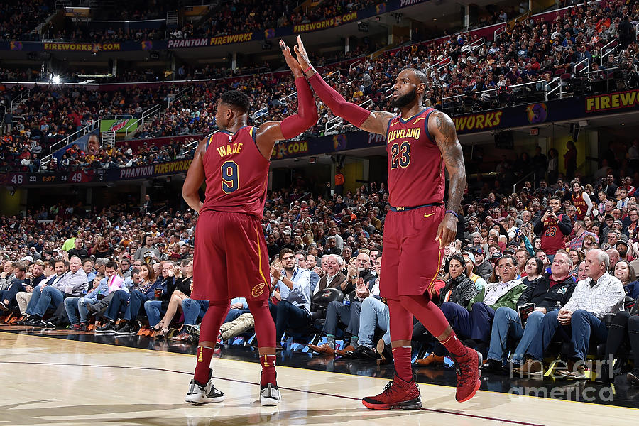 Dwyane Wade and Lebron James Photograph by David Liam Kyle