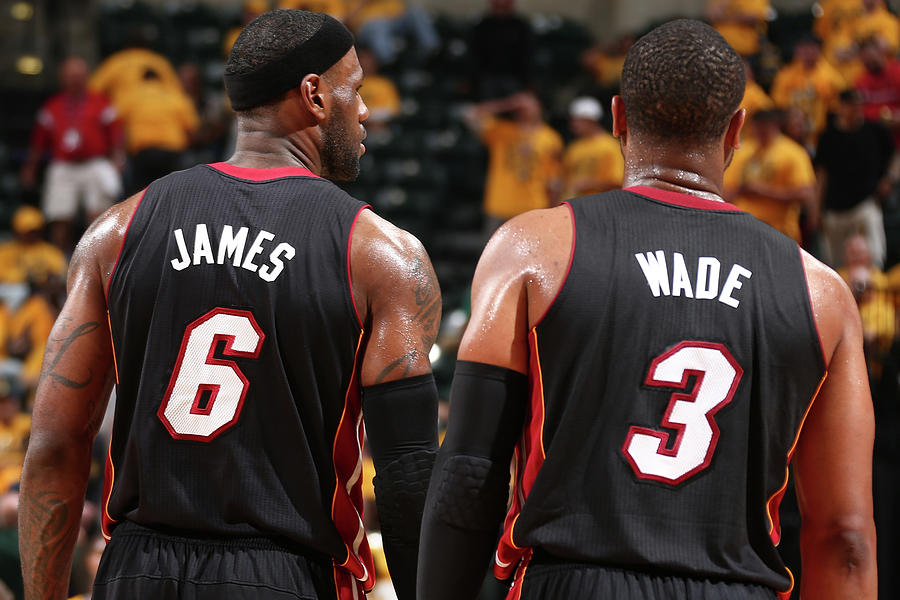 Dwyane Wade and Lebron James Photograph by Nathaniel S. Butler