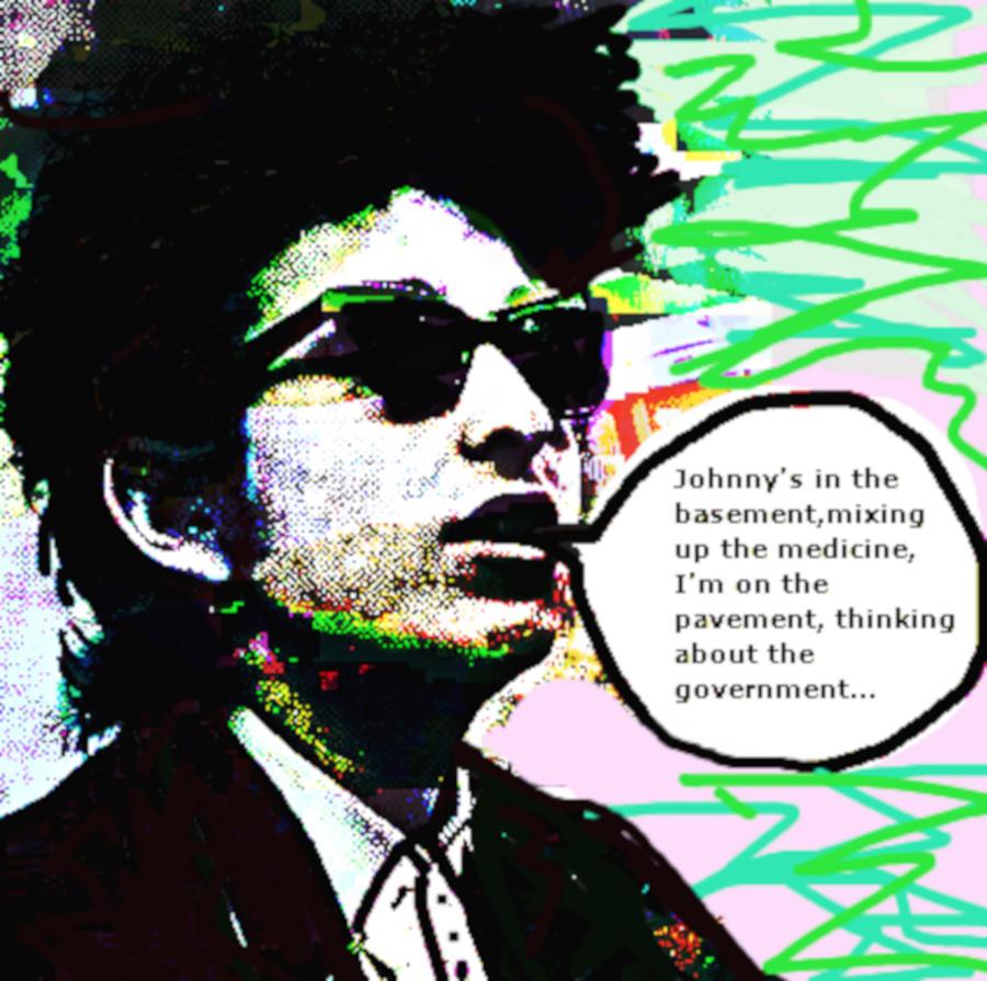 Dylan Subterranean Homesick Blues 1965  by Enki Art