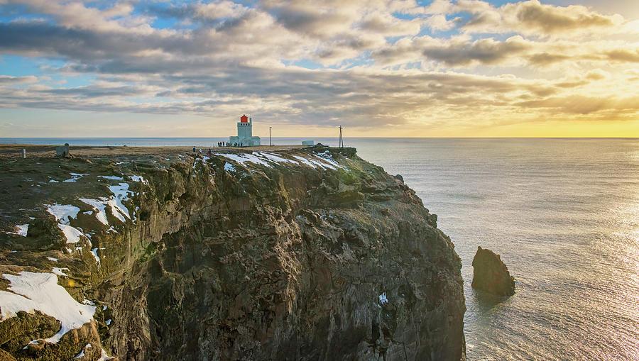 Dyrholaey Lighthouse Iceland Photograph