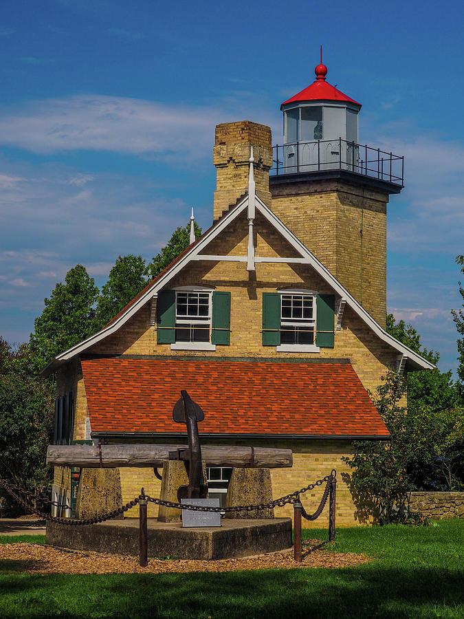 Eagle Bluff Lighthouse Photograph - Eagle Bluff Lighthouse by James C Richardson