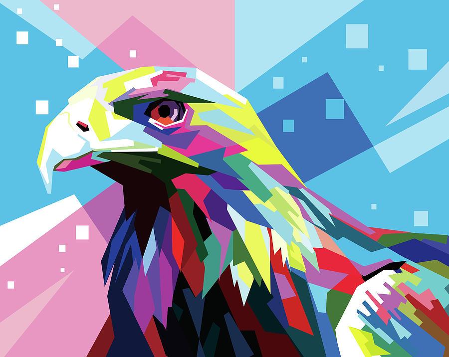 Eagle Wpap Pop Art Digital Art