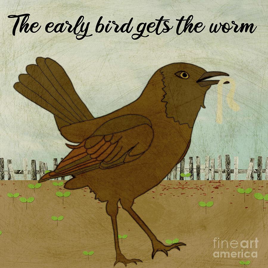 Early Birds Worm Digital Art