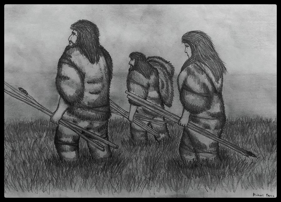 Early Hunters W/ Border Drawing