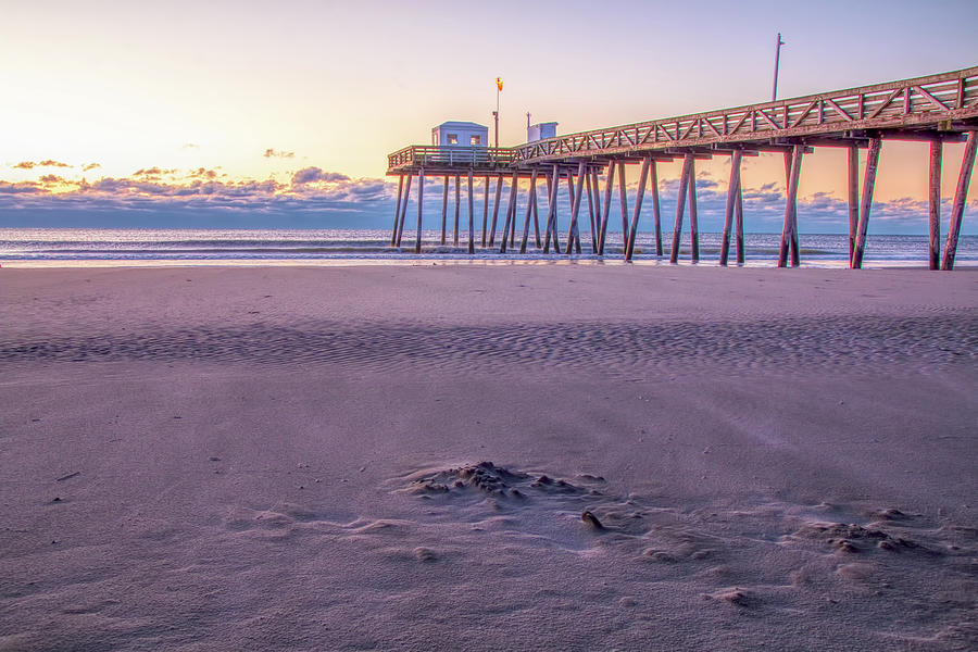 Early Morning At The Ocean City Fishing Pier by Kristia Adams