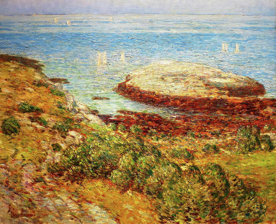 Frederick Childe Hassam Painting - Early Morning Calm - Digital Remastered Edition by Frederick Childe Hassam