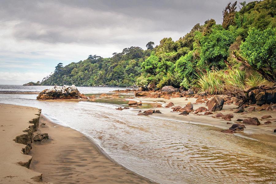 Early Morning Crossing Maori Beach Stewart Island New Zealand Photograph