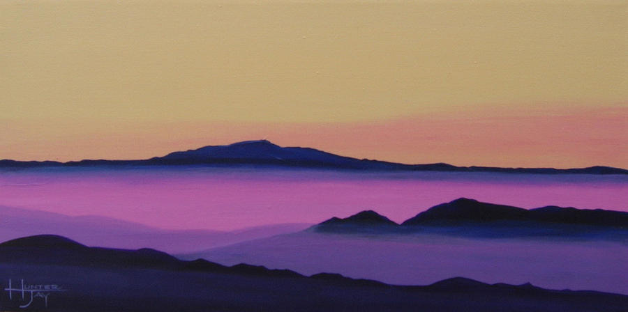 Mountains Painting - Early Morning by Hunter Jay