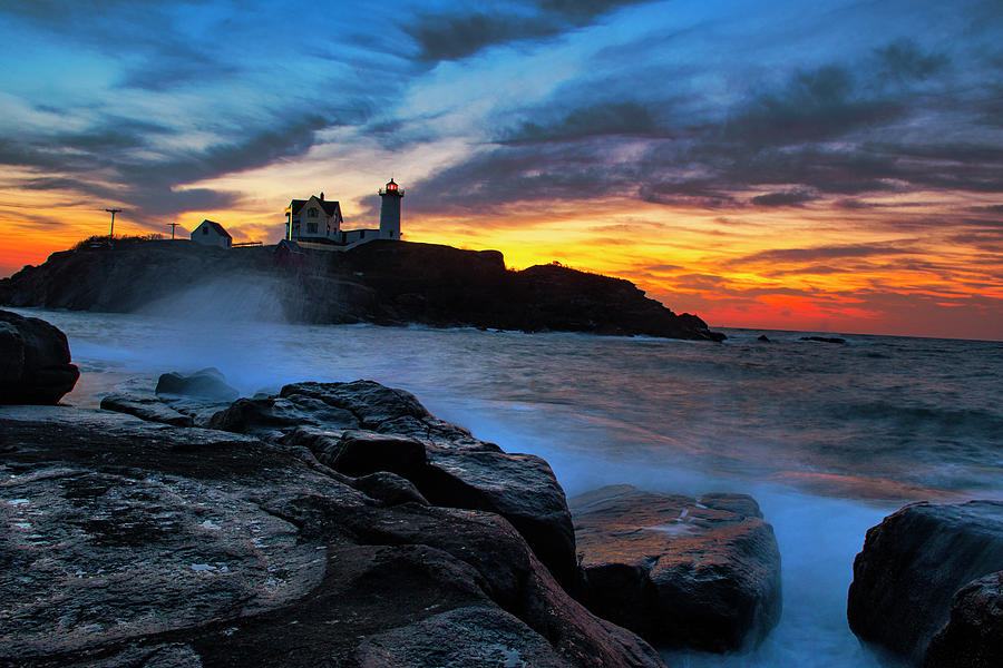 Lighthouse Photograph - Early Morning Light by Sandra Marie Photography