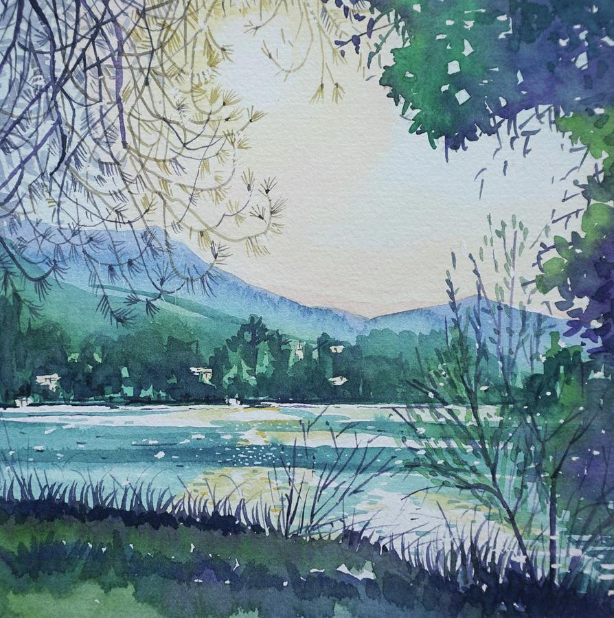 Early Morning On The Lake Painting