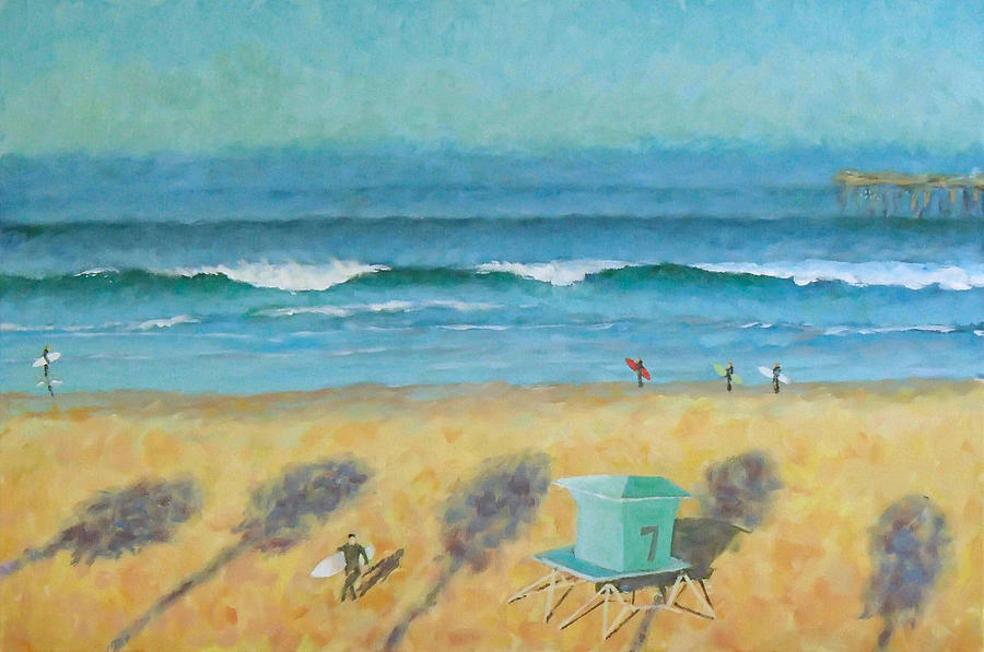 Life Guard Tower Painting - Tower Number Seven by Philip Fleischer